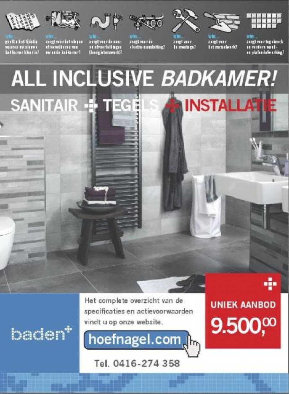 All Inclusive Badkamer - Hoefnagel Tegels, Keukens en Sanitair